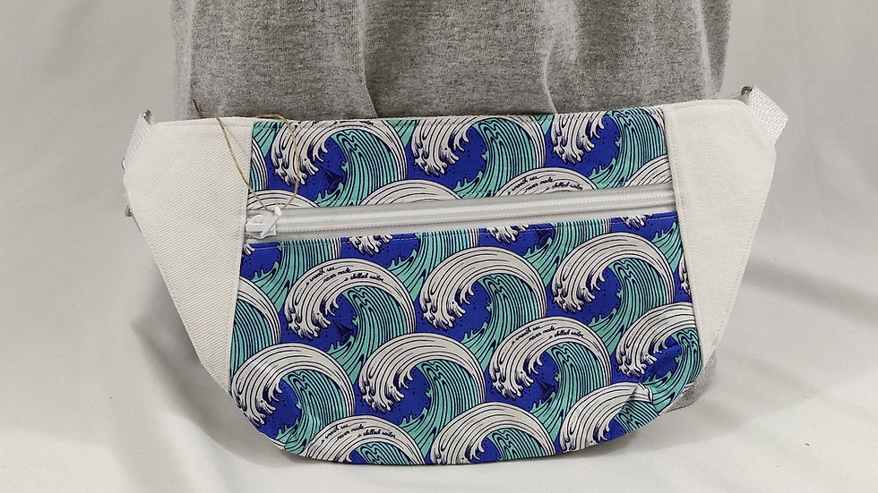 Dayna Fanny Pack - Blue Waves