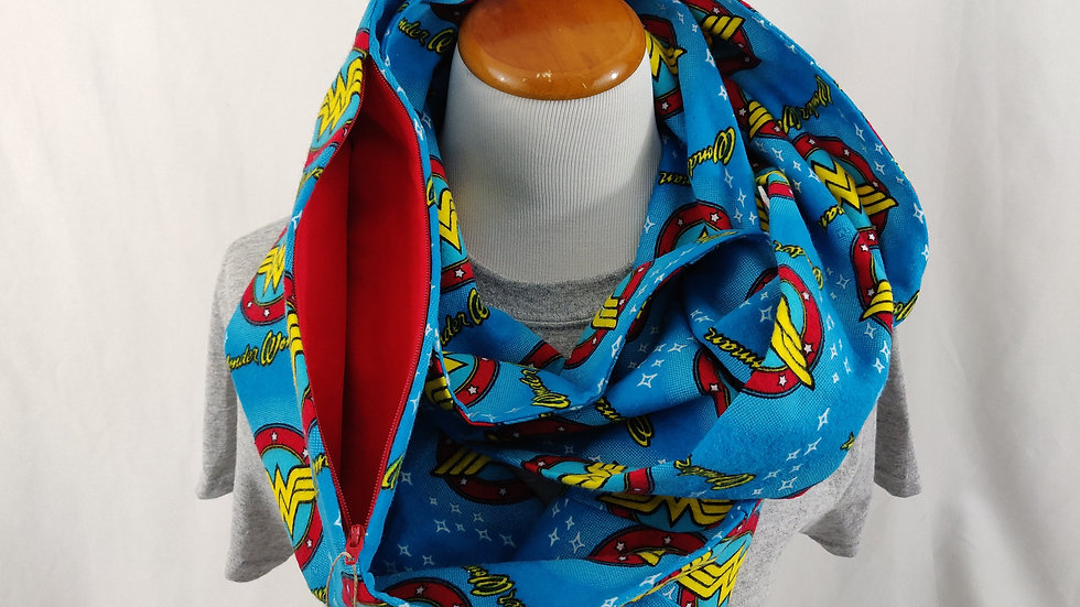 Infinity Scarf w/ Pocket - Wonder Woman