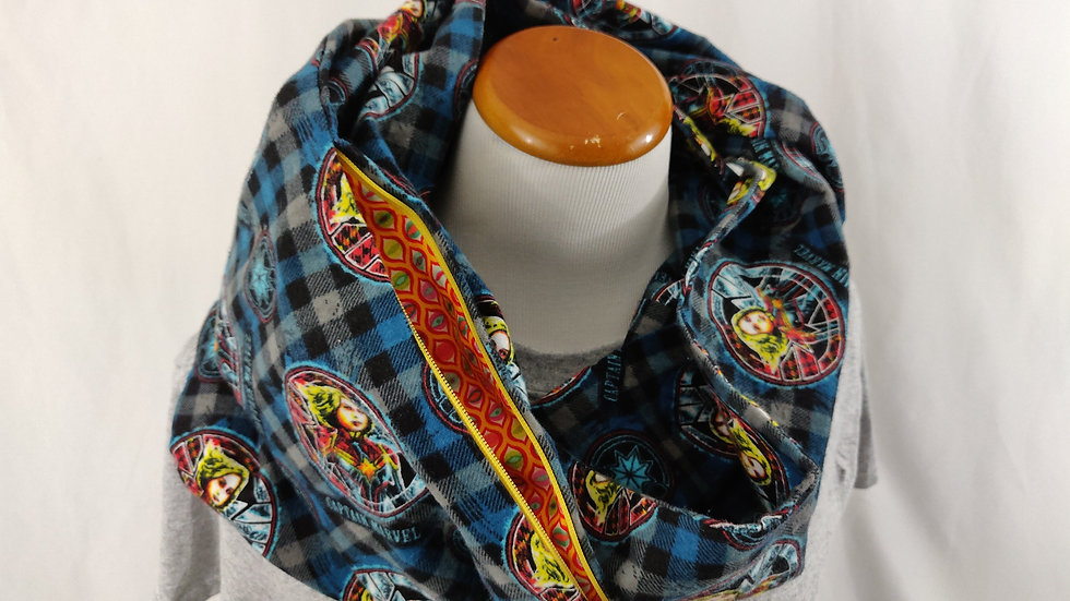 Infinity Scarf w/ Pocket - Captain Marvel