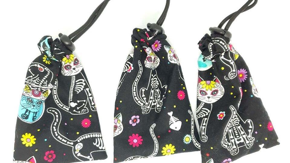 Skeleton Cats Dice Bag