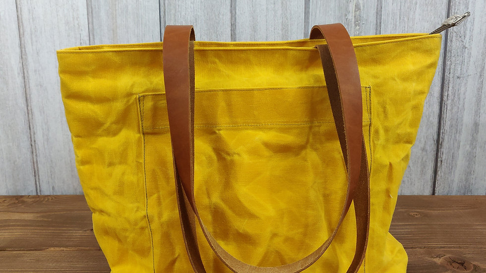 Yellow Waxed Canvas Noodlehead Pepin Tote