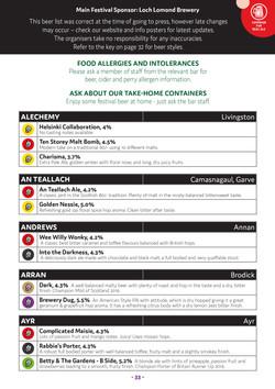 SRAF Programme 2017 beer list