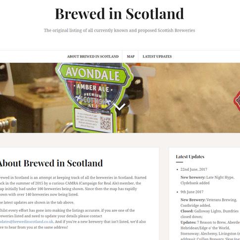 Brewed in Scotland