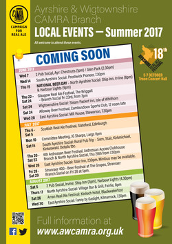 CAMRA what's on poster