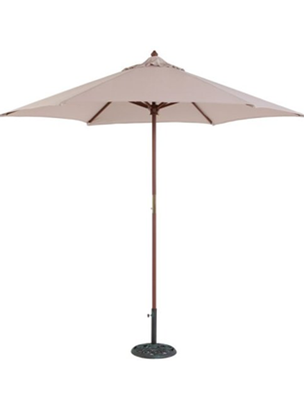 Market umbrella and weights