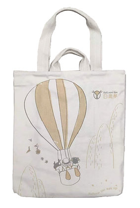 MX11001 白鹿夢熱氣球帆布袋 BailoonMon Balloon Cotton Tote Bag