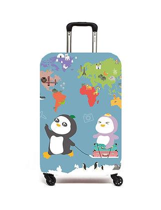 MX22002 奇奇花子去旅行行李套 (藍色) Kier & Flora Luggage Cover (Blue)