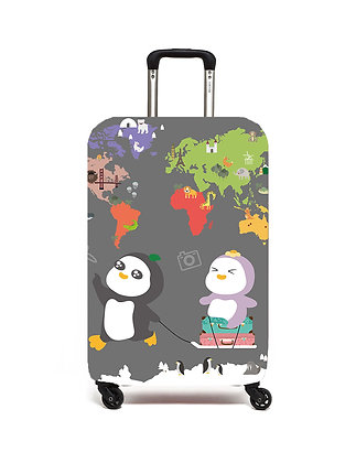MX22003 奇奇花子去旅行行李套(灰) Kier & Flora Luggage Cover (Gray)