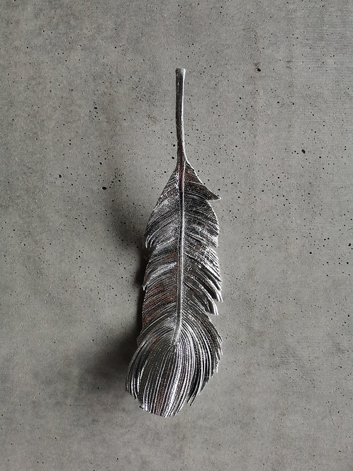 Foiled Leather Feather
