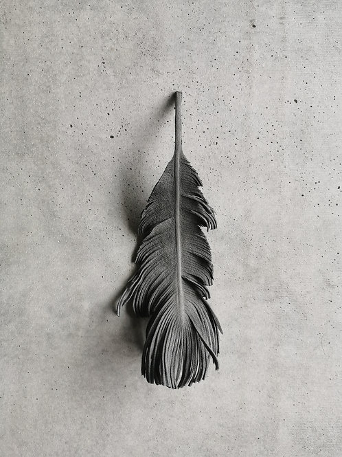 Grey Suede Feather