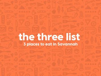 The Three List: Savannah, GA