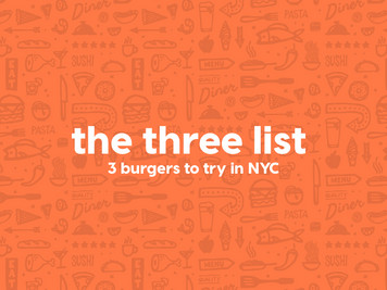 To Three List: 3 Burgers To Try In NYC