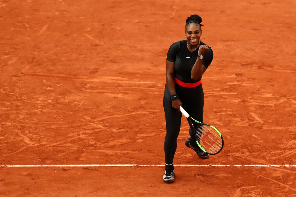 Serena Williams com o Black Panther suit