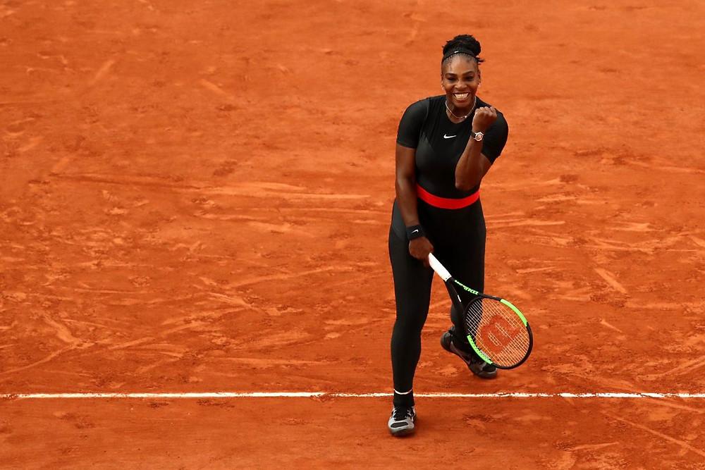 Serena Williams com o Black Panther suit