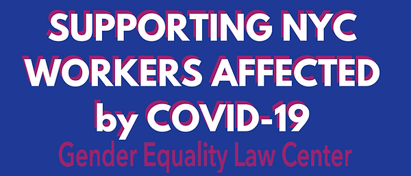 SUPPORTING NYC WORKERS AFFECTED by COVID