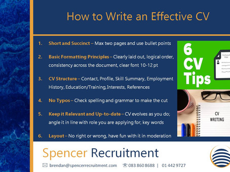 Tips on Writing an Effective CV