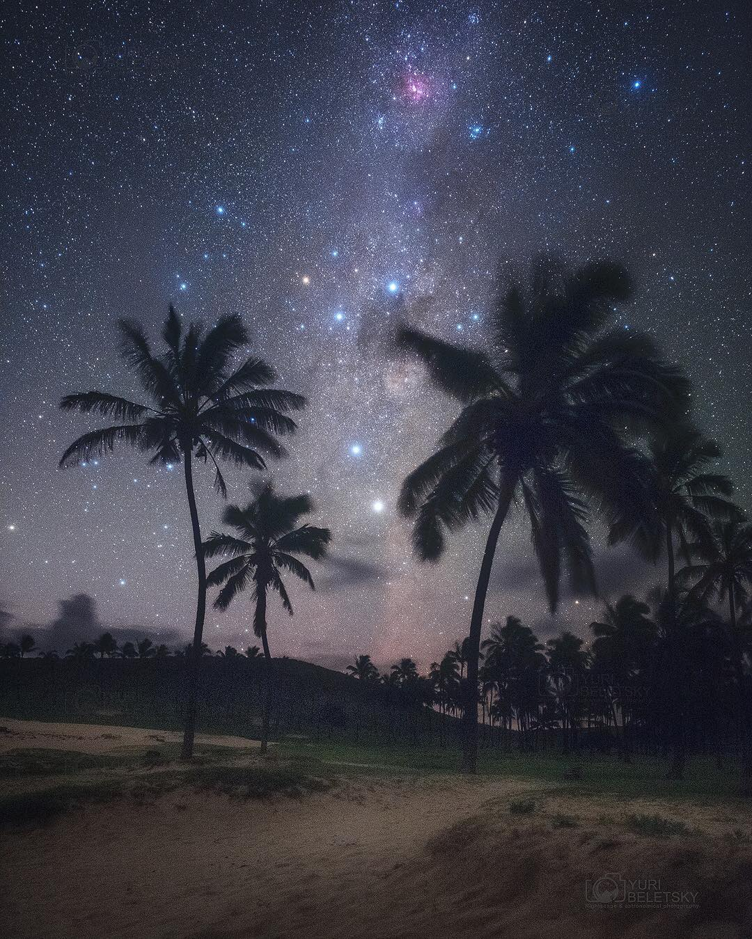 Stargazing at a Remote Beach