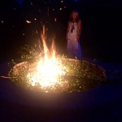Partial Full Moon eclipse in Aquarius Aug. 07, 2017 Fire ritual at Joshua Creek.