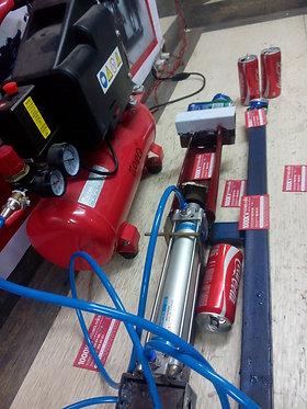 KM152 Pneumatic single Coke tin can crusher