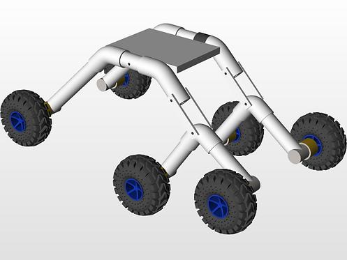 KM223 Rocker bogie mechanism machine