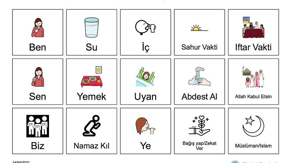 Ramazan Bayramı Yardımsız İletişim Panosu (Kız 2)