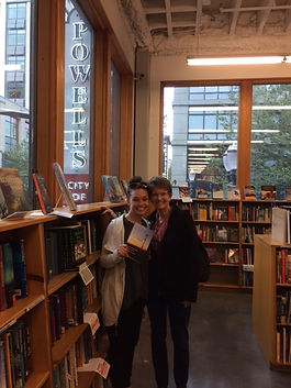 Meg and Barb at Powell's City of Books.J