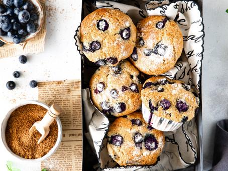 Muffins aux myrtilles - Vegan