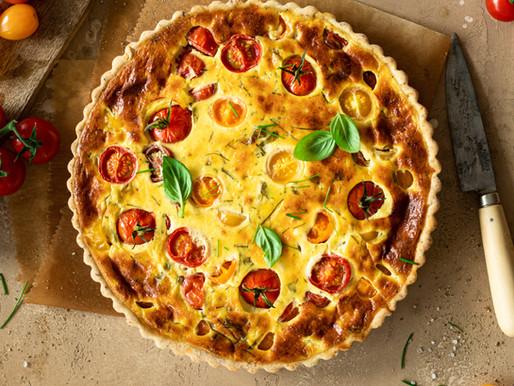 Tarte aux tomates cerise