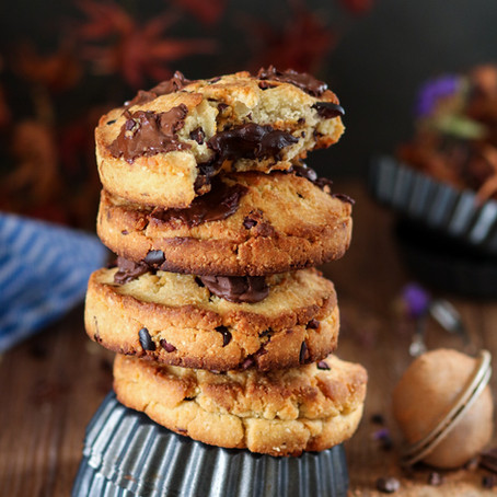 Cookies fourrés au chocolat et beurre de cacahuète