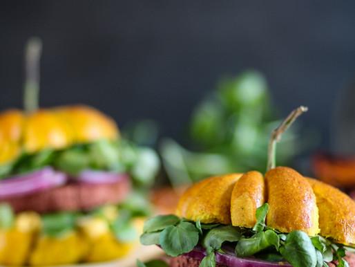 Burgers citrouille végétariens aux haricots rouges