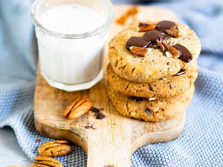 Cookies au noix de pecan et chocolat - Sans gluten, vegan