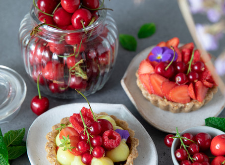 Tartelettes aux fruits rouges - Vegan, sans gluten
