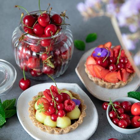 Tartelettes aux fruits rouges - Vegan, sans gluten