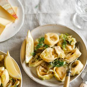 Tortellini aux poireaux et au comté