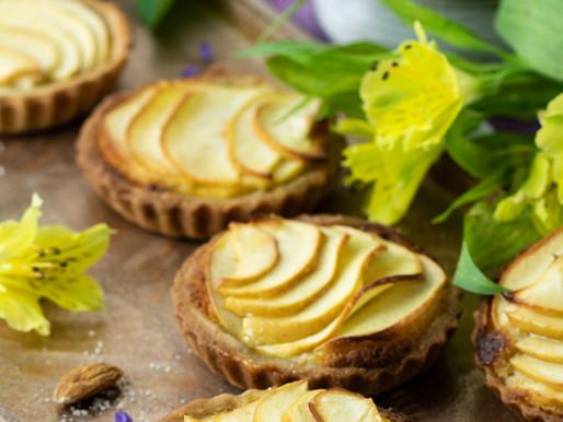 Tartelettes à la crème d'amandes et  pommes