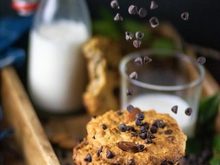 Cookies à la banane et aux pépites de chocolat