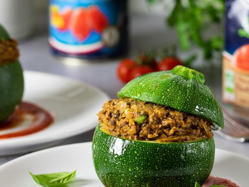Courgettes farcies vegan