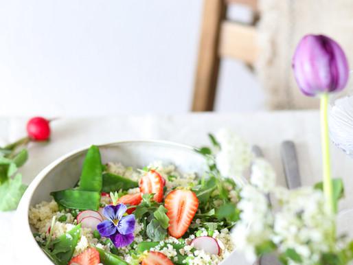 Salade de semoule printanière - Vegan