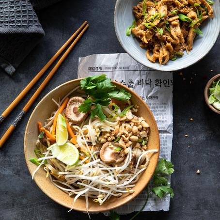 Pad thaï avec les émincés de soja Céréal bio - Végétarien