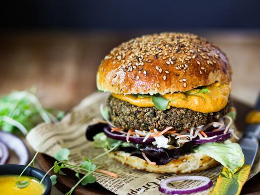 """Pains burger, galettes de lentilles et """"cheddar"""" végétal - Vegan"""