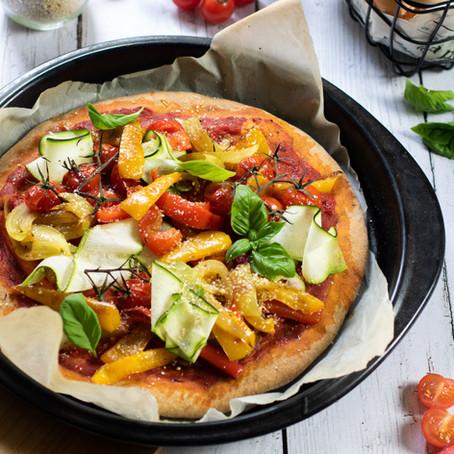 Pizza vegan aux légumes