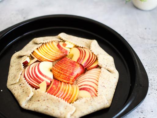 Tarte rustique aux pommes à la crème d'amande - Vegan