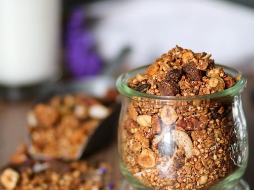 Granola aux beurre de cacahuètes.