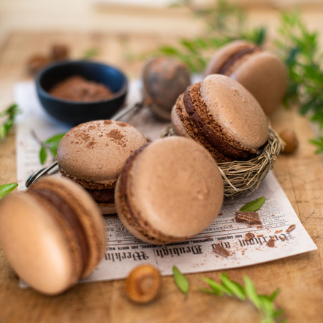 Macarons à la noisette et au chocolat