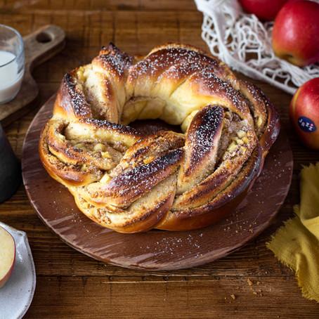Brioche à la crème d'amande et aux pommes