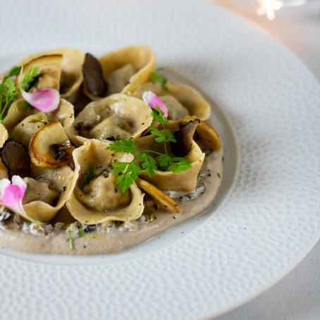 Raviolis aux champignons et à la truffe