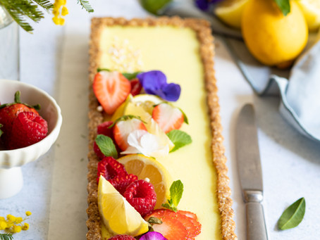 Tarte au citron - Vegan & Sans gluten