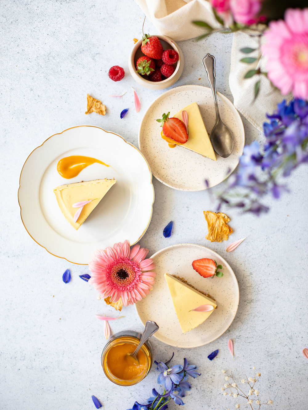 Entremet mangue vegan