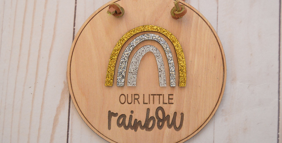 Our Little Rainbow Sign
