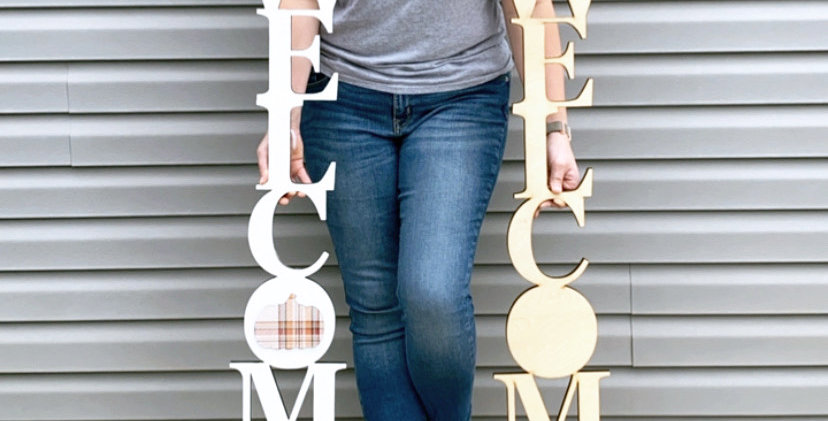 Welcome Cutout Porch Sign